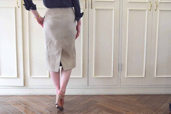 MADISONBLUE(マディソンブルー) HIGH WAIST TIGHT SKIRT LINEN【K】(3)