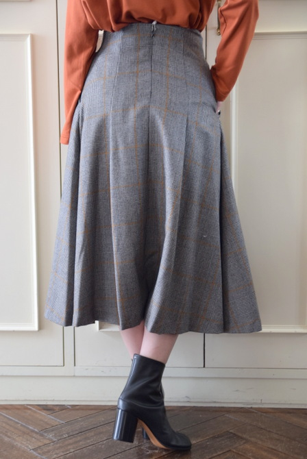 【40%OFF SALE】Graphpaper(グラフペーパー)GLENCHECK FLARE SKIRT【K】(3)