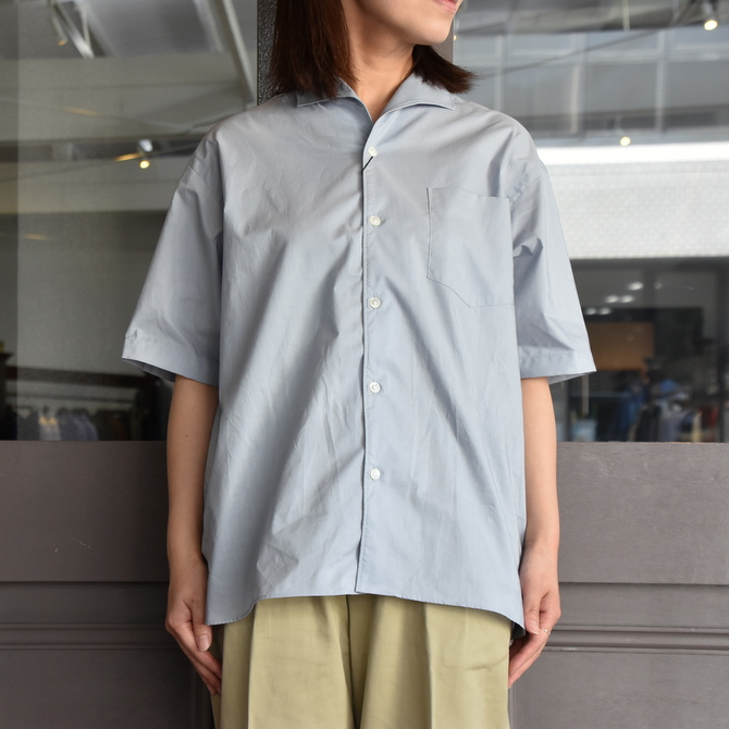 LENO&Co.(リノアンドコー) / ONE PIECE COLLAR OPEN SHIRT【Z】(3)
