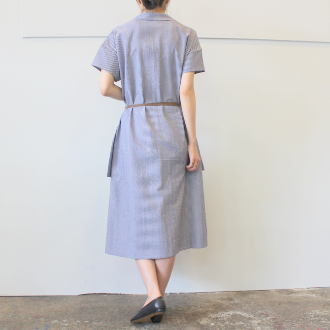 【40%OFF SALE】ÉCOLE DE CURIOSITÉS(エコールドキュリオジテ)COTTON SEERSUCKER DRESS_DAISY【K】(3)