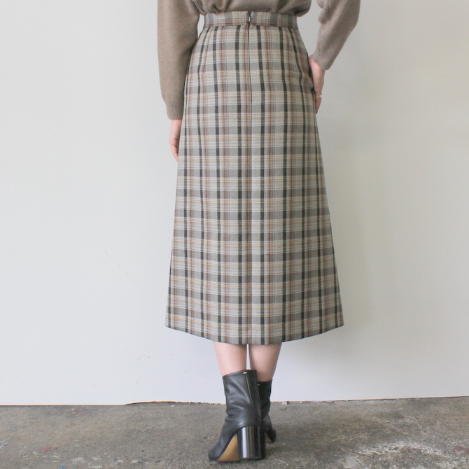 AURALEE(オーラリー) DOUBLE FACE CHECK SKIRT(2色展開)_A9AS04BN【K】(4)