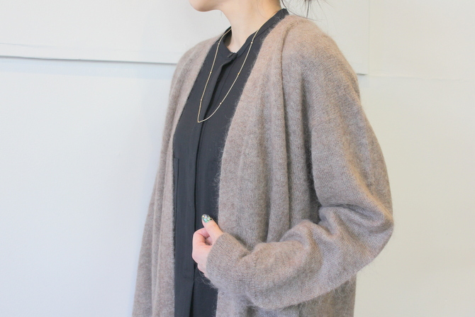 【30%OFF SALE】YLÉVE(イレーヴ) 【19AW】KID MOHAIR KNIT LONG CARDIGAN_168-9264026【K】(4)