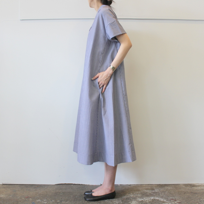 【40%OFF SALE】ÉCOLE DE CURIOSITÉS(エコールドキュリオジテ)COTTON SEERSUCKER DRESS_DAISY【K】(5)