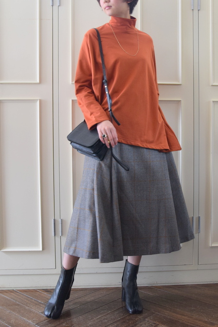 【40%OFF SALE】Graphpaper(グラフペーパー)GLENCHECK FLARE SKIRT【K】(6)
