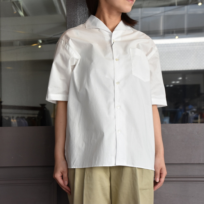 LENO&Co.(リノアンドコー) / ONE PIECE COLLAR OPEN SHIRT【Z】(6)
