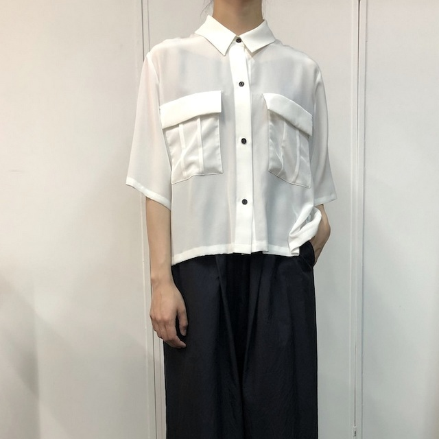 【30% off sale】humoresque(ユーモレスク) pocket shirt(2色展開)【K】(6)