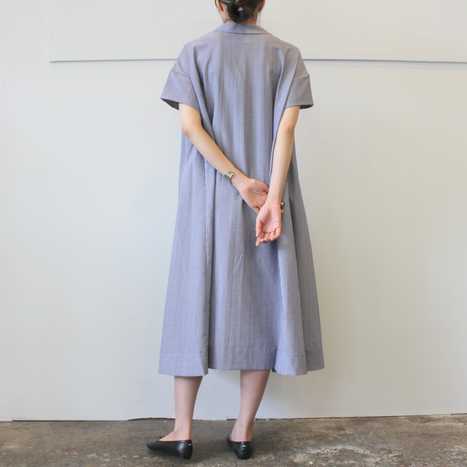 【40%OFF SALE】ÉCOLE DE CURIOSITÉS(エコールドキュリオジテ)COTTON SEERSUCKER DRESS_DAISY【K】(6)