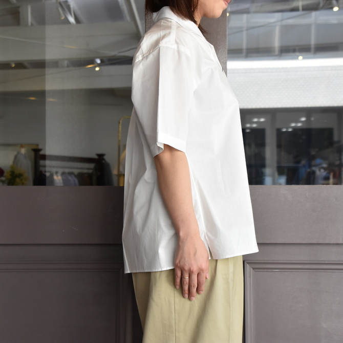 LENO&Co.(リノアンドコー) / ONE PIECE COLLAR OPEN SHIRT【Z】(7)