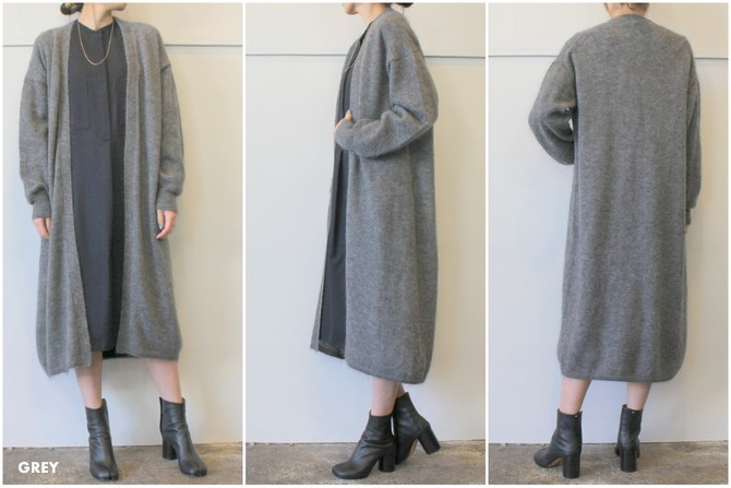 【30%OFF SALE】YLÉVE(イレーヴ) 【19AW】KID MOHAIR KNIT LONG CARDIGAN_168-9264026【K】(7)
