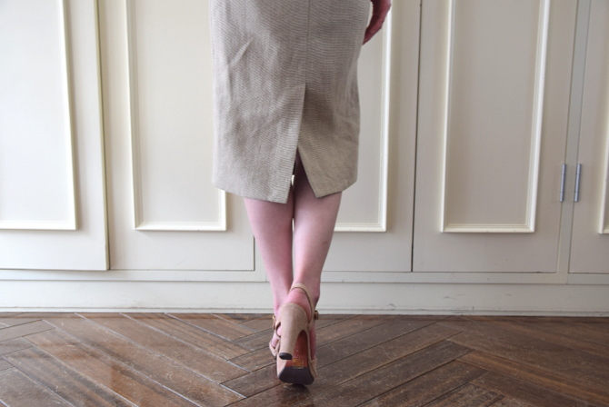 MADISONBLUE(マディソンブルー) HIGH WAIST TIGHT SKIRT LINEN【K】(9)