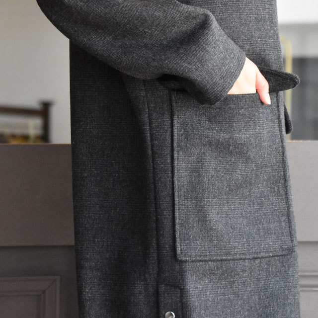TENNE HANDCRAFTED MODERN(テン ハンドクラフテッドモダン) SUPER 140'S FOODED COCOON COAT(9)