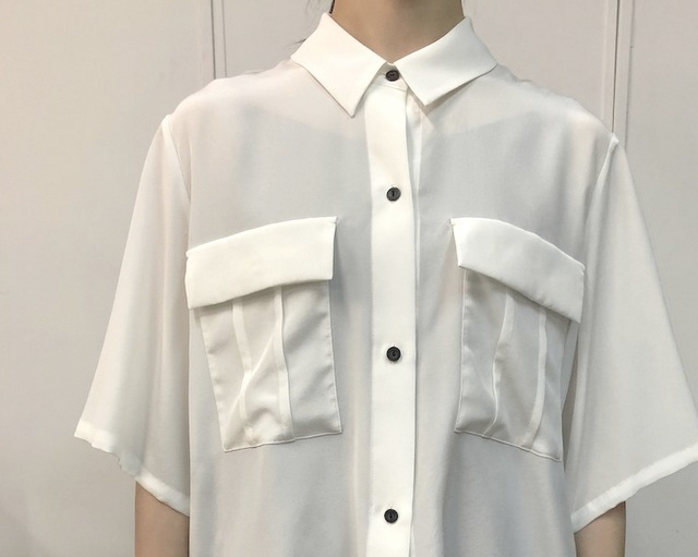 【30% off sale】humoresque(ユーモレスク) pocket shirt(2色展開)【K】(9)