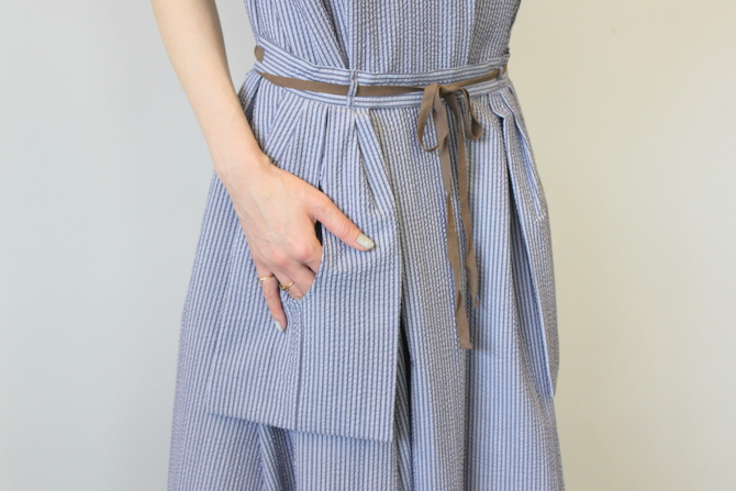 【40%OFF SALE】ÉCOLE DE CURIOSITÉS(エコールドキュリオジテ)COTTON SEERSUCKER DRESS_DAISY【K】(9)