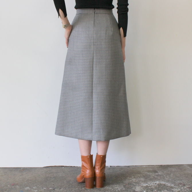 AURALEE(オーラリー) DOUBLE FACE CHECK SKIRT(2色展開)_A9AS04BN【K】(9)