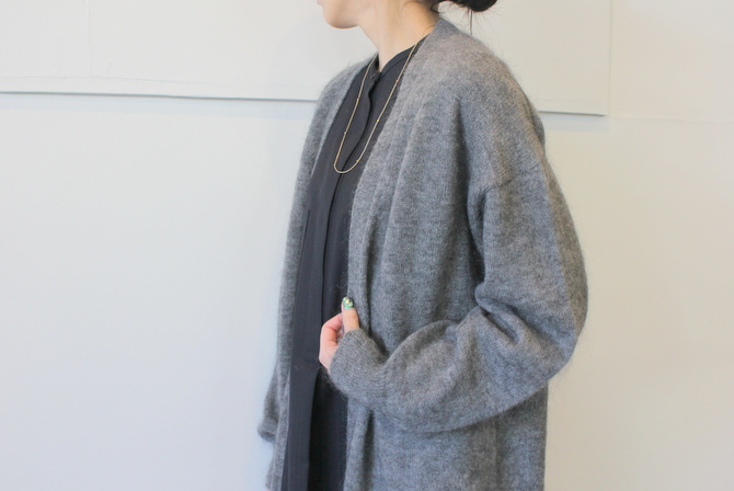 【30%OFF SALE】YLÉVE(イレーヴ) 【19AW】KID MOHAIR KNIT LONG CARDIGAN_168-9264026【K】(9)