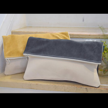 TEMBEA(テンベア) CLUTCH BAG LARGE/Suede(2色展開)【K】