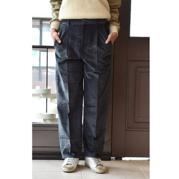 【40% off sale】CristaSeya(クリスタセヤ)  Corduroy pants(コーデュロイパンツ/smoky blue)