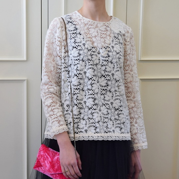 Bilitis dix-sept ans(ビリティス・ディセッタン) Cluny Lace Blouse(2色展開)