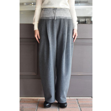 TENNE HANDCRAFTED MODERN(テン ハンドクラフテッドモダン) WEAVE AND KNIT BANANA PANTS