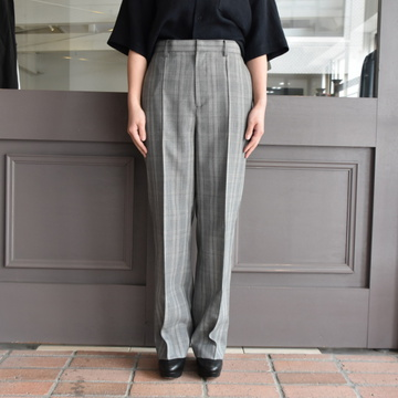【30%off sale】 AURALEE(オーラリー) SUMMER WOOL GLEN CHECK SLACKS #A9SP03MC