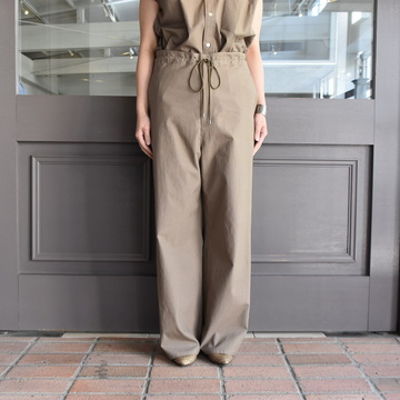 AURALEE(オーラリー) WASHED FINX TWILL EASY WIDE PANTS #A9SP05TN【K】