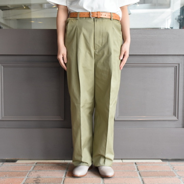 【30%off sale】 CristaSeya(クリスタセヤ)/ COTTON PLEATED SUMMER TROUSERS