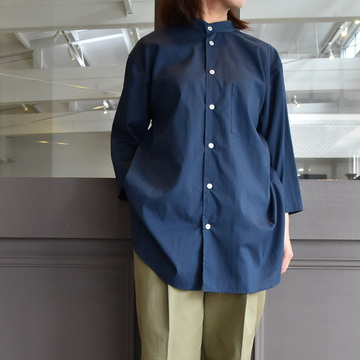 【30%off sale】 CristaSeya(クリスタセヤ)/ LIGHT COTTON SUMMER MAO SHIRT