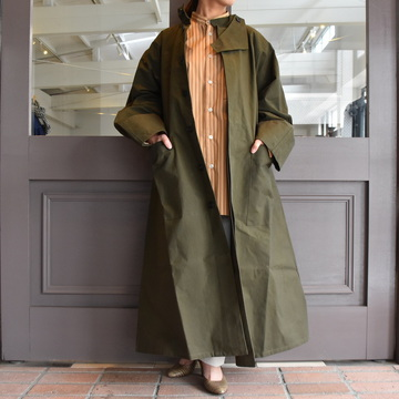 【30%off sale】 CristaSeya(クリスタセヤ)/ OVERSIZED COTTON TRENCH (Khaki)