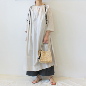 【40%OFF SALE】ÉCOLE DE CURIOSITÉS(エコールドキュリオジテ)TYPEWRITER COTTON DRESS_BETTY【K】