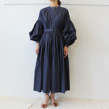 【30%OFF SALE】ÉCOLE DE CURIOSITÉS(エコールドキュリオジテ)AUBREY PLEIN COTTON LIMITED EDITION DRESS【K】