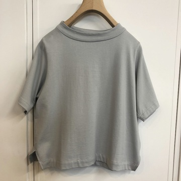 humoresque(ユーモレスク) bottle neck tee(L.GREY)【K】