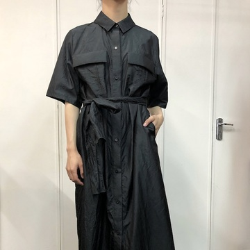 humoresque(ユーモレスク) pocket shirt dress【K】