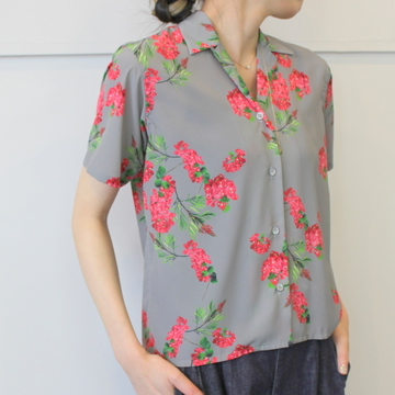 【40%OFF SALE】Graphpaper(グラフペーパー)Flower Printed Shirts_GL191-50074【K】