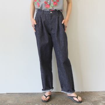 【40%OFF SALE】Graphpaper(グラフペーパー)Colorfast Denim 2 Tucks Pants_GU191-40050B【K】