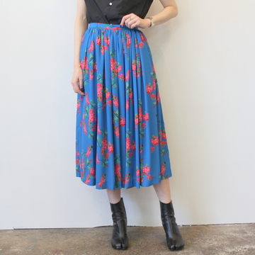 【40%OFF SALE】Graphpaper(グラフペーパー)Flower Printed Skirt_GL191-40078【K】