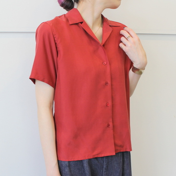【40%OFF SALE】Graphpaper(グラフペーパー)Cupra Open-collar Shirt_GL181-50017【K】