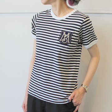 MADISONBLUE(マディソンブルー)BORDER POCKET TEE_MB191-7034【K】