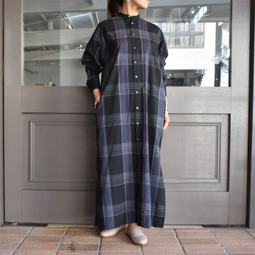 AURALEE(オーラリー) SUPER LIGHT WOOL CHECK MAXI ONE-PIECE #A9AD02LC【Z】