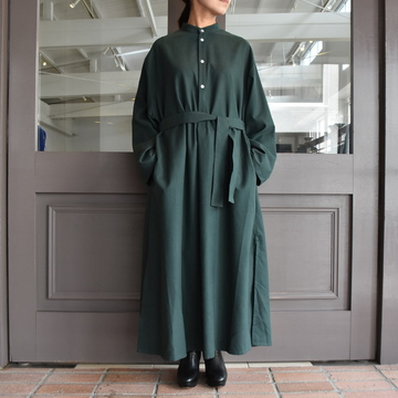 CristaSeya(クリスタセヤ)/ COTTON FLANNEL MAXI SHIRT DRESS(3色展開)