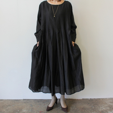 maison de soil(メゾンドソイル) INVERTED PLEAT L/S DRESS_NMDS19542【K】