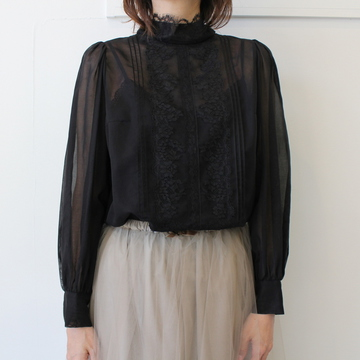 Bilitis dix-sept ans(ビリティス・ディセッタン) ORGANDY BLOUSE(LACE)(2色展開)_2911-790【K】