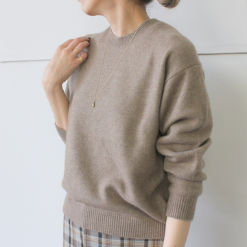 AURALEE(オーラリー) BABY CASHMERE KNIT P/O(2色展開)_A9AP04BC【K】