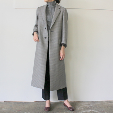 AURALEE(オーラリー) DOUBLE FACE CHECK CHESTERFIELD COAT_A9AC03BN【K】