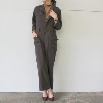 AURALEE(オーラリー) HARD TWIST WOOL BARATHEA JUMPSUIT_A9AT01BB【K】