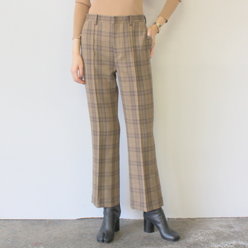 AURALEE(オーラリー) WOOL SERGE CHECK SLACKS_A9AP06SC【K】