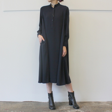 Graphpaper(グラフペーパー)Stain Band Collar Dress_GL193-600358【K】