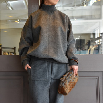 TENNE HANDCRAFTED MODERN(テン ハンドクラフテッドモダン) HIGH-NECK RIB PULLOVER #PU005-019