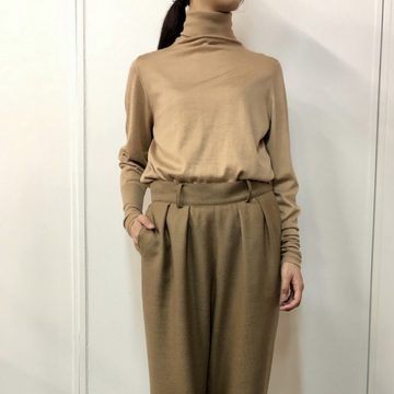 【30%OFF SALE】humoresque(ユーモレスク) rib turtleneck【K】_HA0204