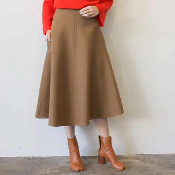 【30%OFF SALE】YLÉVE(イレーヴ) WOOL DOUBLE CLOTH SKIRT_168-9230051【K】