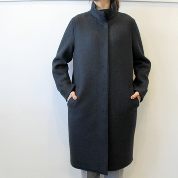 HARRIS WHARF LONDON(ハリスワーフロンドン) Women egg-shaped coat in pressed wool and polaire_A1212MLK-Y【K】